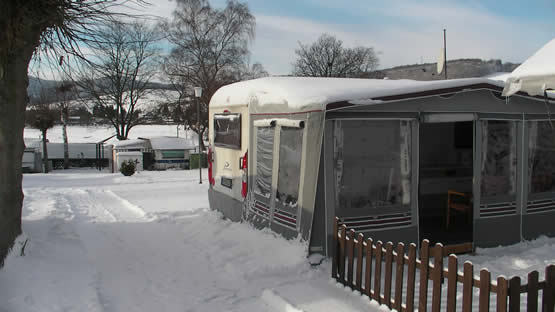 Wintercamping am Diemelsee
