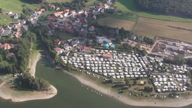 Campingplatz Diemelsee Luftaufnahme